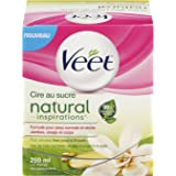 Veet Natural Inspirations Sugar Wax with 12 Strips 250 ml