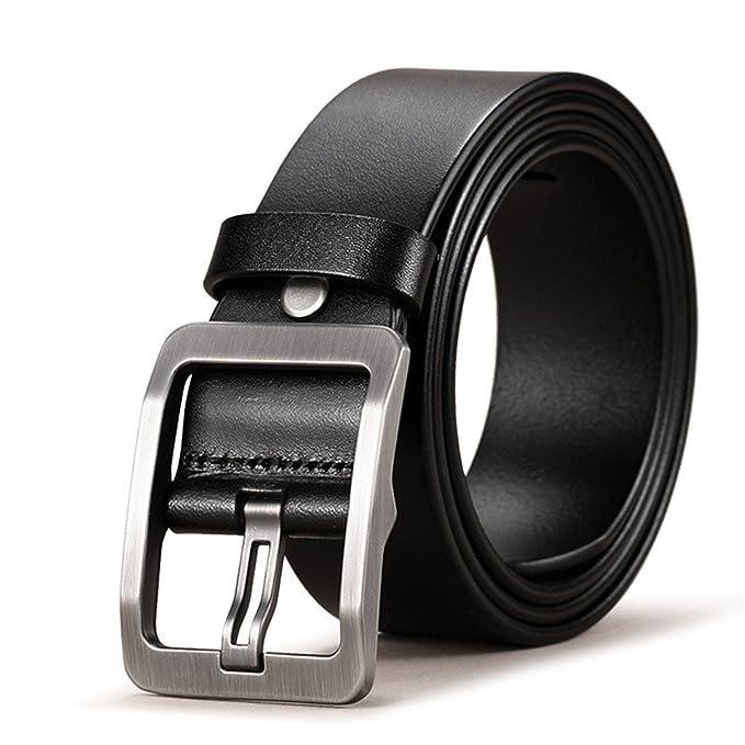 Profitd Hombre Cinturones de cuero genuino 100% para hombre Correa macho  Pin hebilla Fancy Vintage Cowboy Jeans Cintos  Amazon.es  Ropa y accesorios 30c04210383b