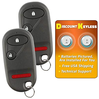 Discount Keyless Replacement Key Fob Car Entry Remote For Honda Civic Pilot NHVWB1U521, NHVWB1U523 (2 Pack): Automotive
