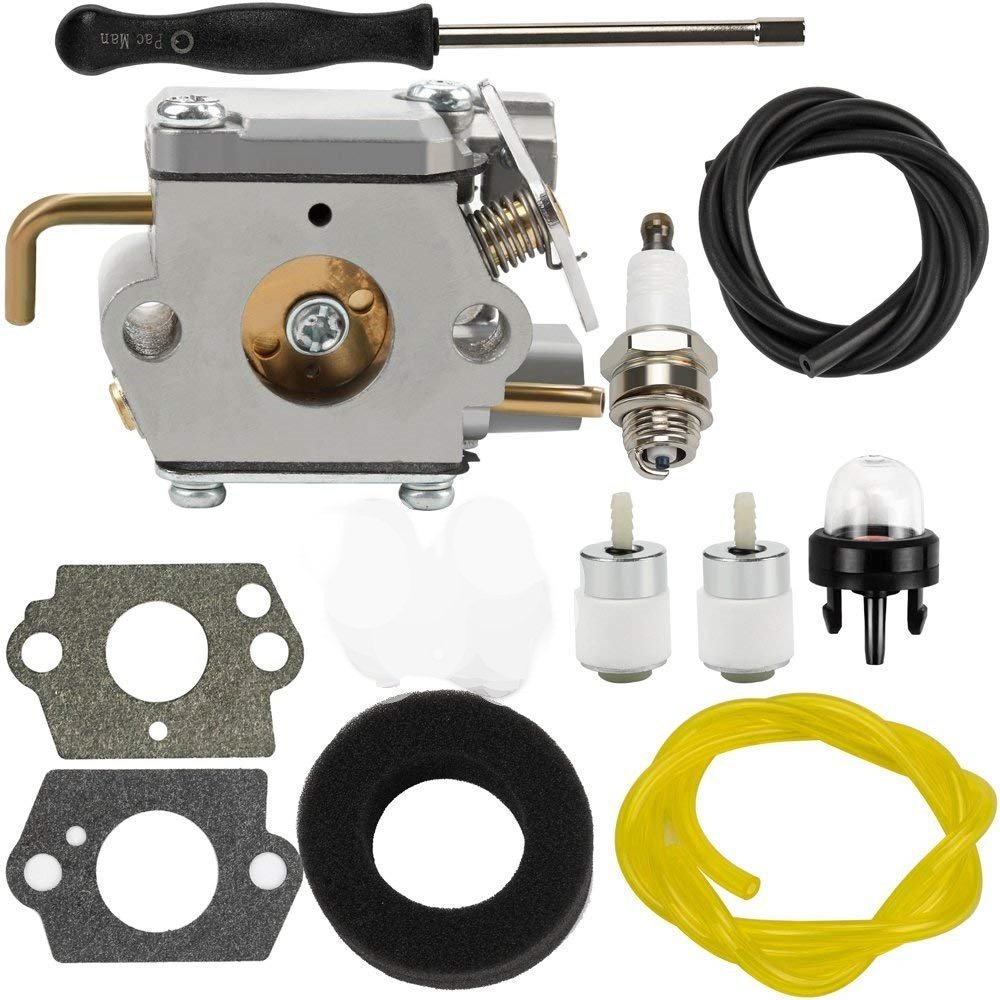 Tri-Better Carburetor with Adjustment Tool Kit for 753-04408 753-04144 Cub Cadet BC2090 CC2020 CC2090 ST2020 Trimmer Walbro WT-682-1 WT-682 Carb