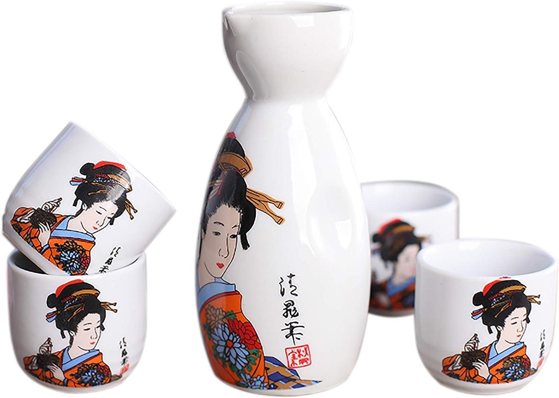 Juego de Sake de 5 Piezas