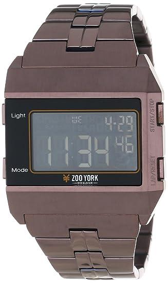Zoo York ZYE1019 - Reloj de Pulsera Hombre, Acero Inoxidable, Color Marrón: Amazon.es: Relojes