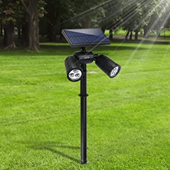 Lamparas Solares Farola Jardin Solar Focos Led Exterior 6 Leds Luces