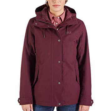 dc01e6da1da0 (Burgundy, Small) - Jack Wolfskin Mora Jacket Women blue 2018 winter jacket