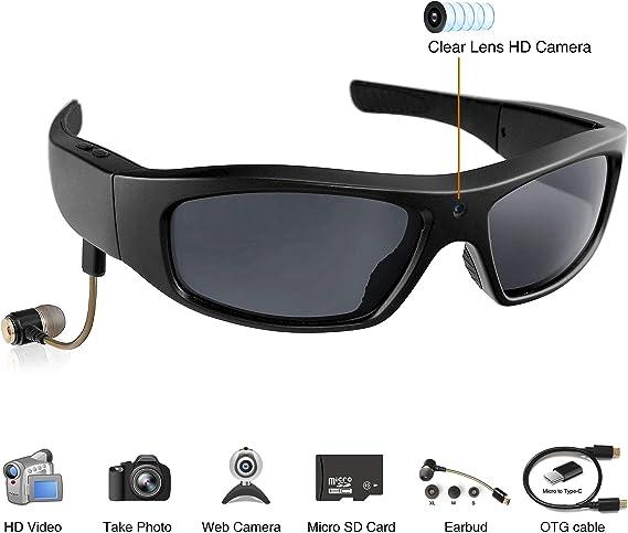 1280x720 HD Video   Hidden Camera Sunglasses with MP3 Player 16GB