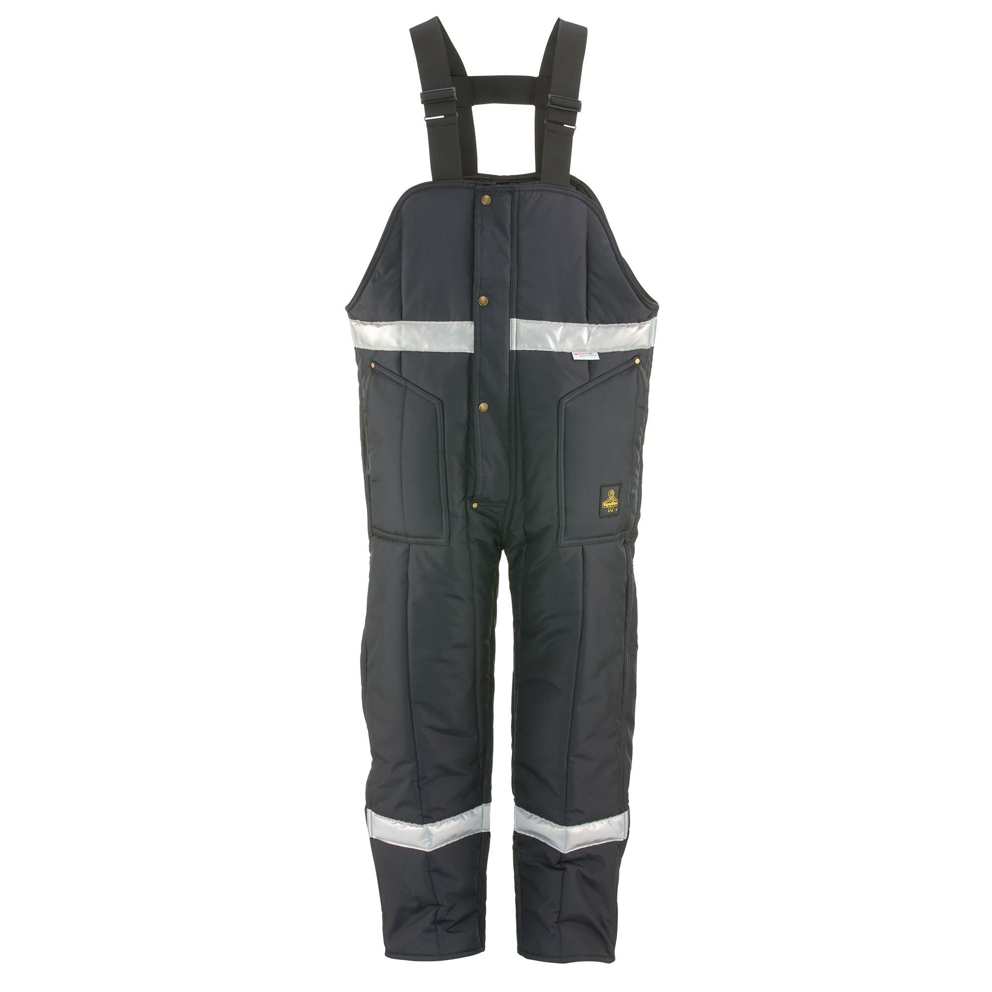 RefrigiWear Men's Iron-Tuff Enhanced Visibility High Bib, Navy, 3XL Short by Refrigiwear (Image #1)