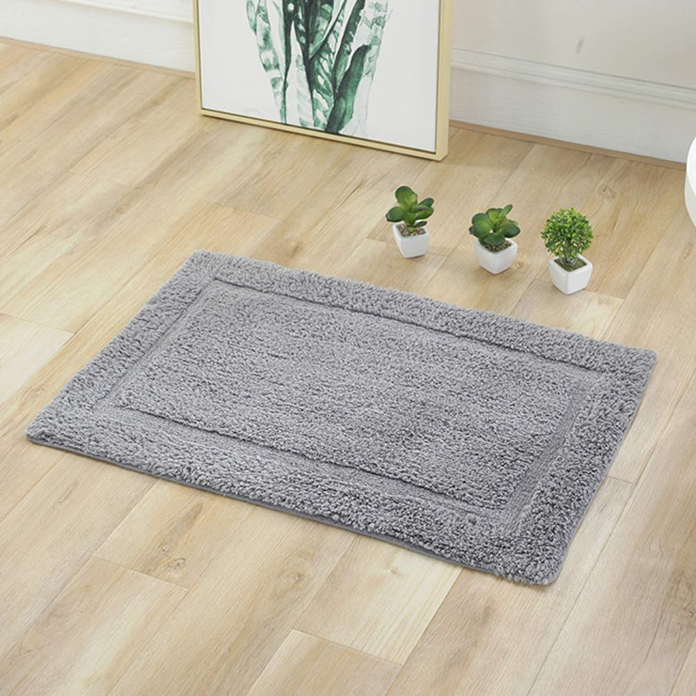 AXIANQIMat Soft Mat Floor Mat Towel Bathroom Non-Slip Bathroom Door Mat Cotton Absorbent Long Hair Thickening Mat Washable Brown 5080cm 6090cm (Color : Gray, Size : 5080cm) by AXIANQIMat (Image #5)