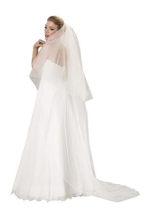 so billig klassische Stile heiße Produkte OssaFashion Braut-Schleier Hochzeit Schleier fur die Braut, 2 Schicht,  Breite 270 cm, Lange 90/230 cm, mit 80 Kristalle an den Ränden