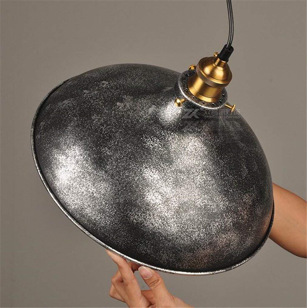 Eeayyygch Topfdeckel Form Deckenleuchte Vintage Pendelleuchte Kit Lampe Decke Loft Loft Loft Lampe Schwarz Metall E27 hängende Retro Kronleuchter Bulb Decor, Single (Farbe   -, Größe   Twin) 4819ad