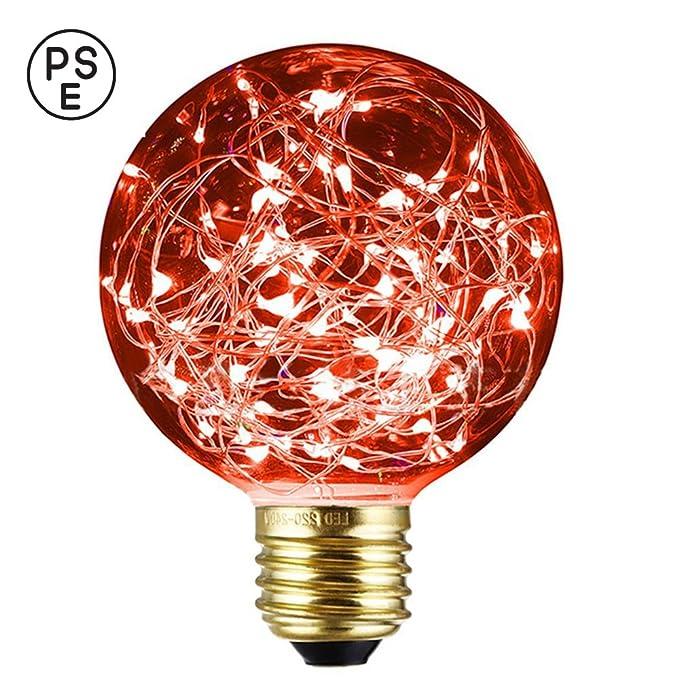 Xinrong Ampoule décorative LED Motif ciel étoilé Filaments Edison en cuivre Culot E27220V 3W Économie d'énergie Style vintage Pour décoration intérieure, f&ec