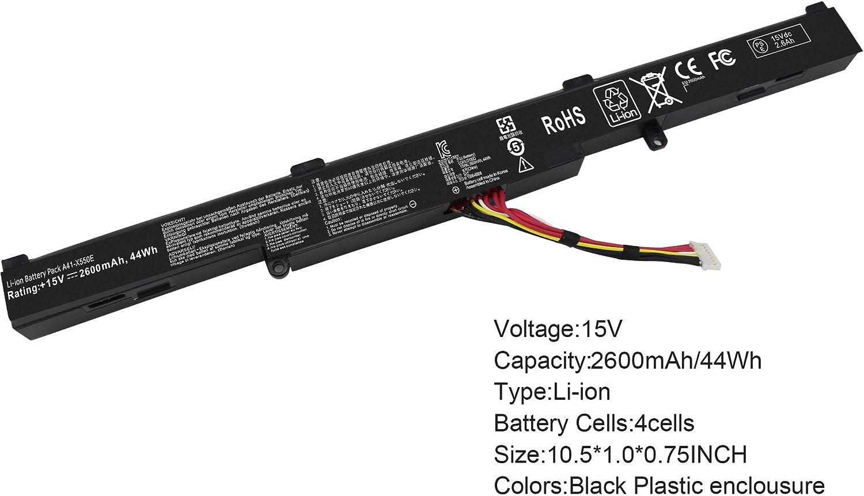 Gomarty A41-X550E Battery for Asus X450 X450e X450j X450jf X550e X550z X550za X750j X750ja X751 X751m A450j A450jf A450e F751la F751ma F751mj R751 R752 F751 K751 P750L P750L Series