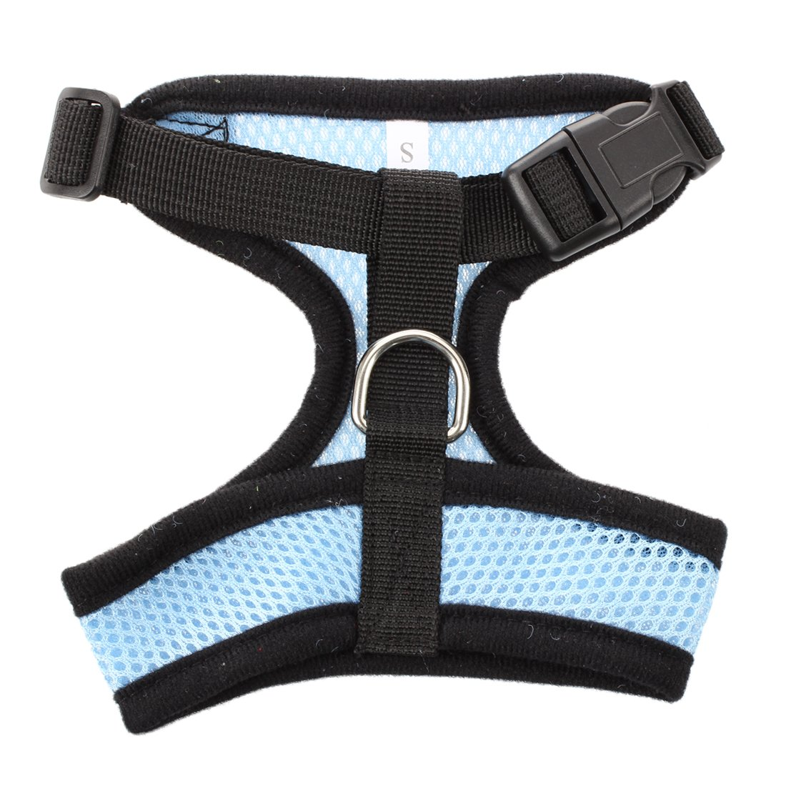 Arnes de correa de Chaleco azul claro para gatos perros mascotas S R SODIAL