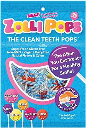 Zollipops Clean Teeth Pops, Anti Cavity Lollipops, Variety Pack, 25 Count by Zollipops: Amazon.es: Belleza