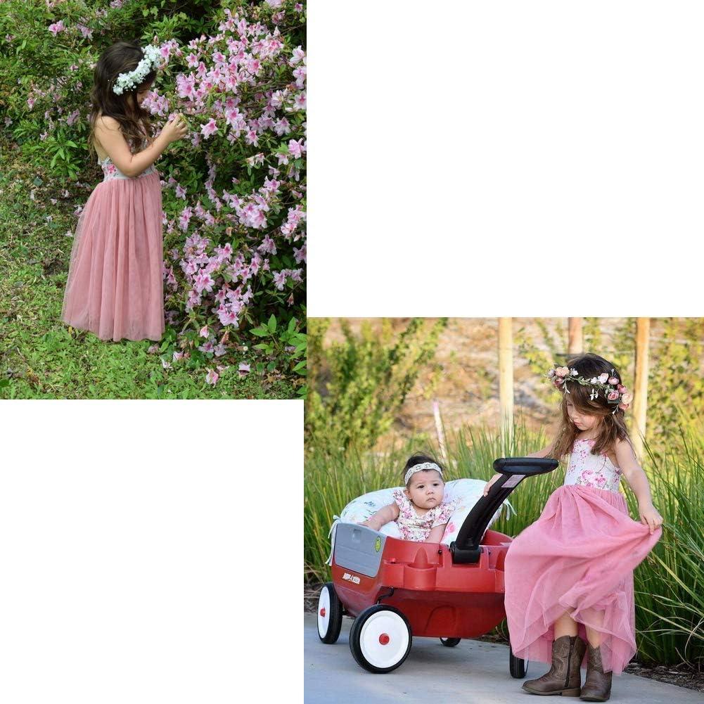Toddler Baby Girls Halter Floral Backless Long Dress Summer Straps Princess Party Wedding Sundress
