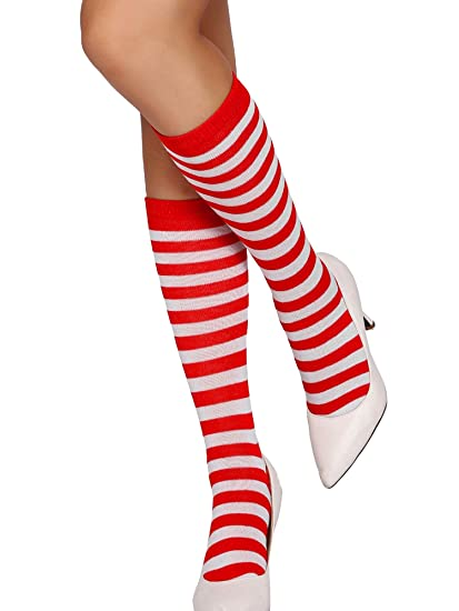 48c1759f5 Beauty s Love Sexy Striped Adult Opaque Christmas Costumes Accessory Socks  Stockings