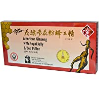 Prince of Peace American Ginseng With Royal Jelly and Bee Pollen 100cc Count (10x...