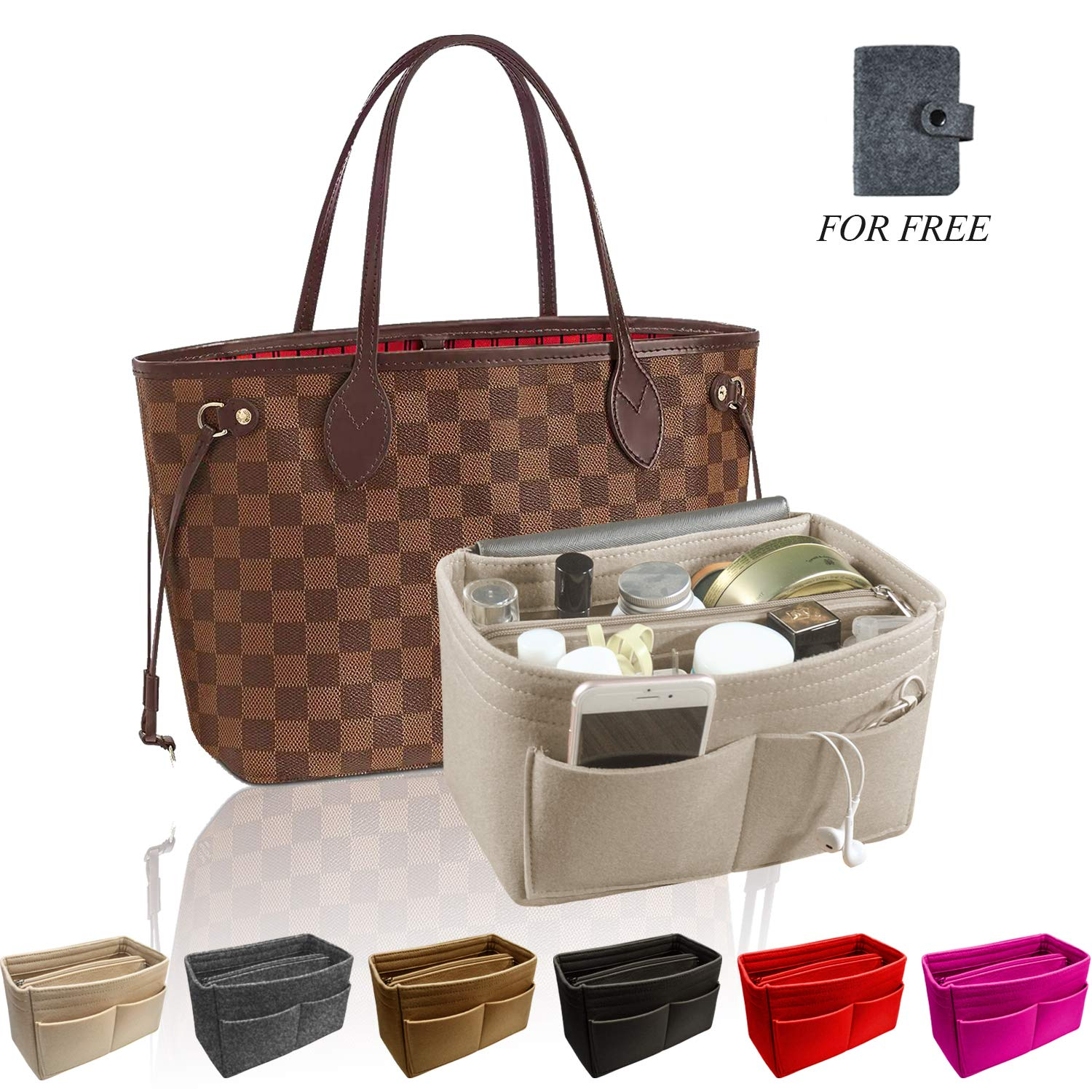 OMYSTYLE FASHION Purse Organizer Insert, Handbag & Tote Organizer, Perfect for Speedy Neverfull and More (Large, Beige) by OMYSTYLE FASHION
