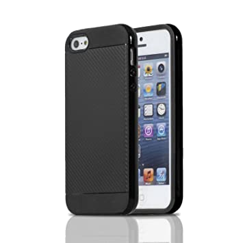 Lincivius Funda iPhone 5, Fundas iPhone 5S Carcasa [Carbon ...