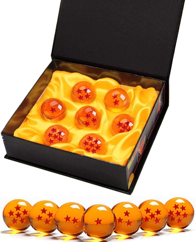 Killow 7 Piezas Bolas Dragon Ball, Bolas de Dragón 1 a 7 Estrellas con Caja de Regalo, Coleccionables para Dragonball Z Regalo ( Diámetro 4,3CM)