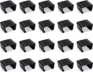 Freehawk Patio Wicker Furniture Clips Sofa Rattan Furniture Clips Chair Fasteners Sectional Sofa Alignment Connector Furniture Fasteners Chair Couch Clamps (20)