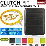 幡ヶ谷カバン製作所 CLUTCH FIT(9.7?10.1インチタブレットPC用薄型軽量 タブレットスリーブケース) ブラック   Apple iPad (1st 2nd 3rd 4th)   iPad Air   docomo XperiaTablet Z SO-03E   docomo ARROWS Tab F-05E   Xperia Z2 Tablet   ASUS TransBook T100TA   dynabook Tab S50   docomo dtab   LaVie Tab W TW710   ThinkPad 10   ASUS VivoTab Smart ME400C   対応