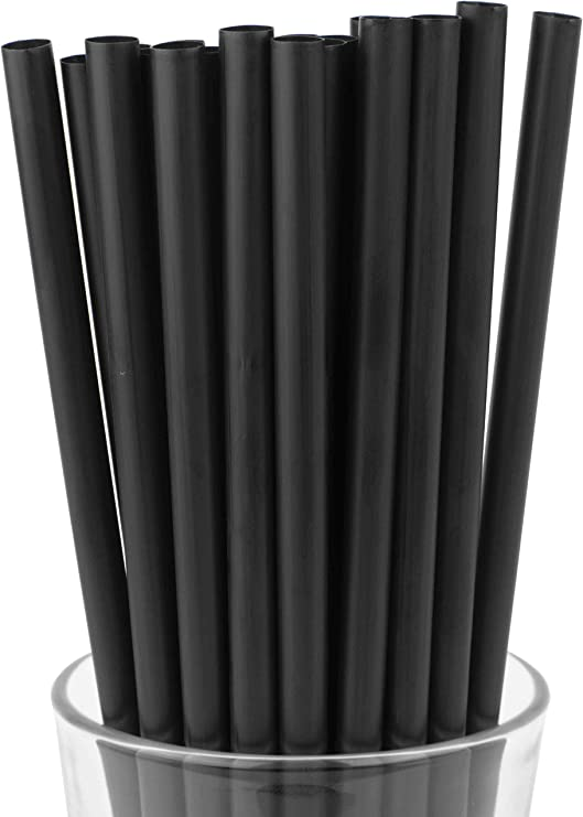 Assorted Colors 10 Inch Drinking Straws 250 Straws 10 Inch x 0.28 Inch