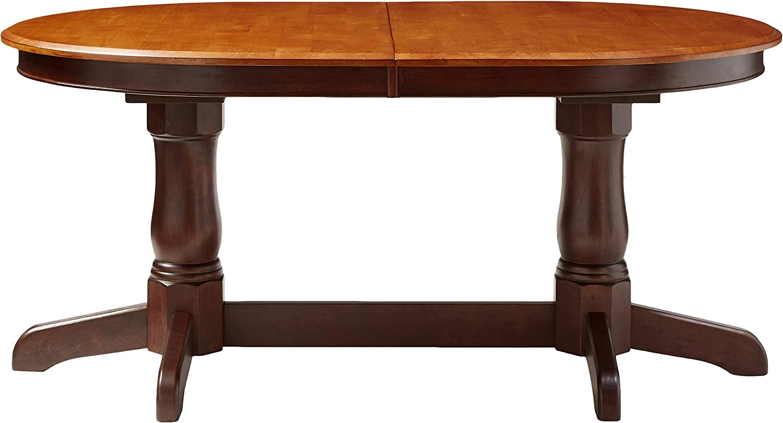 Amazon Com Iconic Furniture Oval Dining Table 42 X 90 Whiskey Mocha Finish Tables