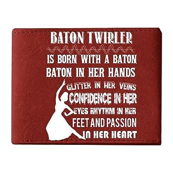 I'm A Baton Twirler Men's Wallets, With A Baton Wallets For Men
