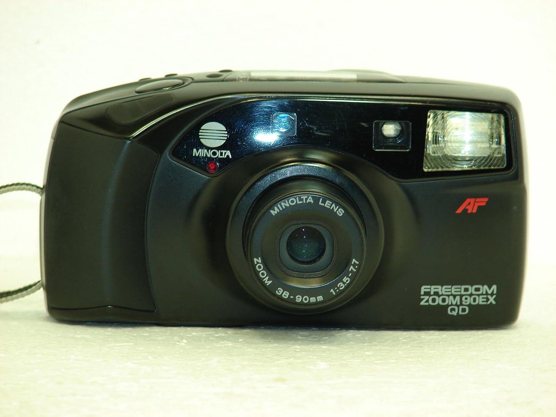 Minolta Freedom Zoom 90ex Qd 35mm Film Camera W/minolta Lens Zoom 38-90mm 1:3.5-7.7 Lens (35mm Film Camera, Black Color, Made in Japan)