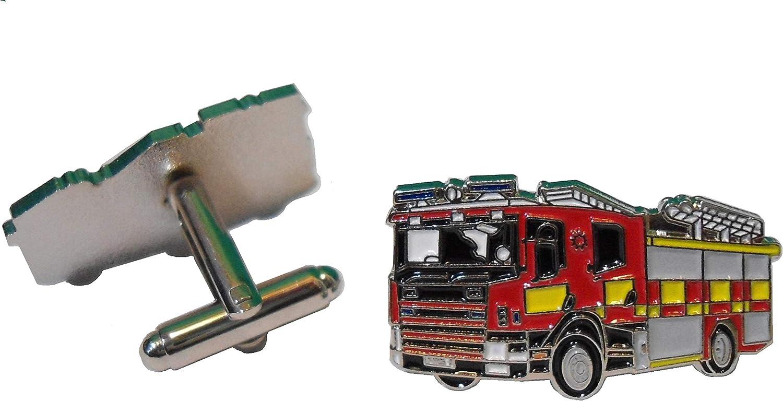 B4B Feuerwehrauto Fire Brigade Feuerwehr Notfall Service Metall Truck Manschettenkn/öpfe