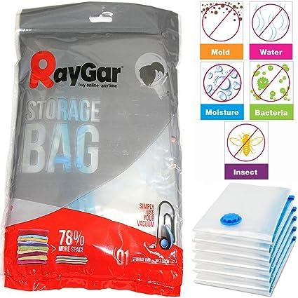 Bpro - Bolsas de almacenaje al vacío para ropa, edredones o almohadas (6 unidades, 90 x 50 cm)