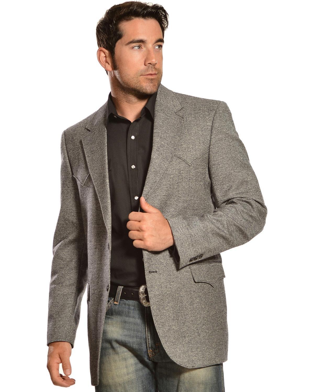 Circle S Men's Plano Sport Coat Big and Tall Dark Grey 50 LNG