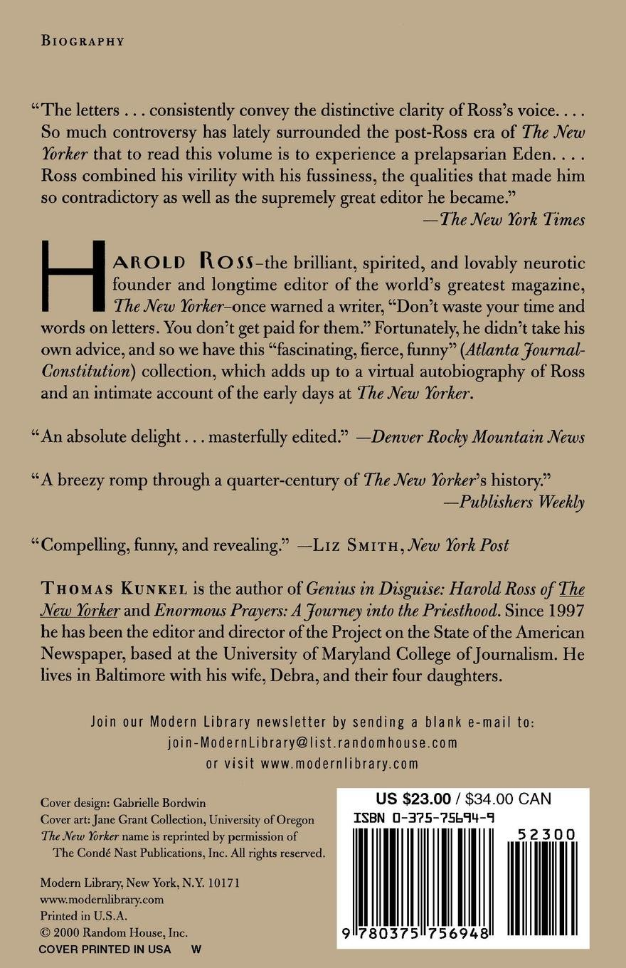 5b0a0ac0d1819 Letters from the Editor  The New Yorker s Harold Ross (Modern Library  Classics)  Thomas Kunkel  9780375756948  Amazon.com  Books