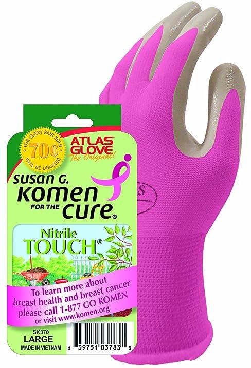 Atlas Nitrile Touch Susan Komen Gloves Small