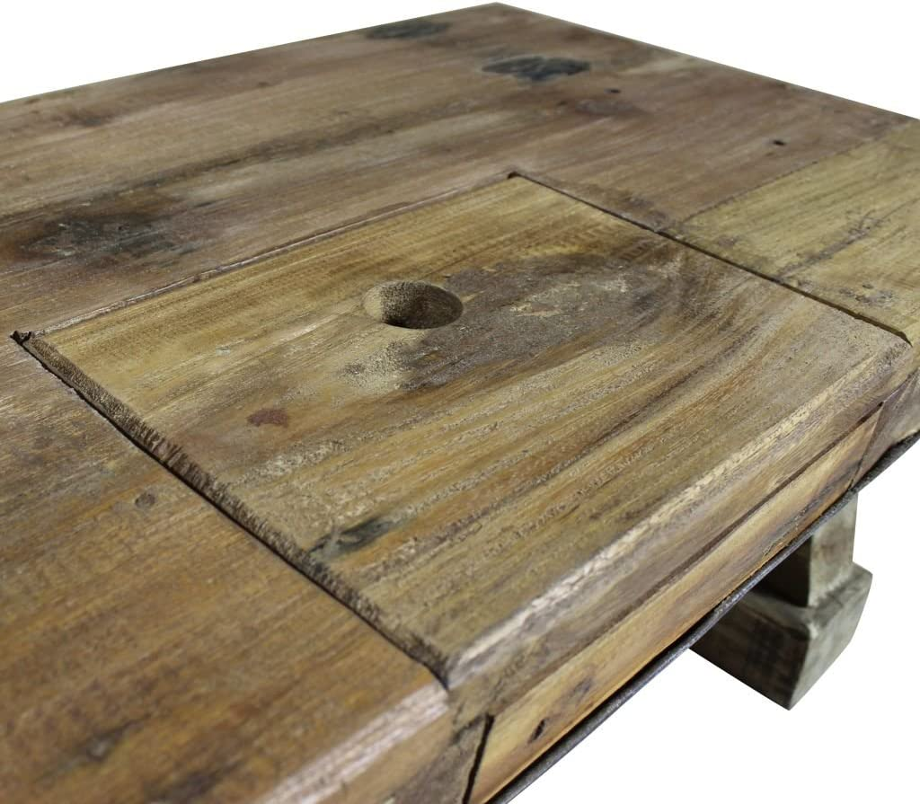 Vidaxl Solid Reclaimed Wood Coffee Table 90x50x35cm Kitchen Office Furniture Waiting Area Tables