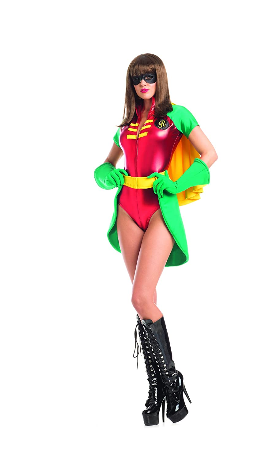 Adult Women's 5 Piece Miss Robin Super Hero Halloween Party Costume