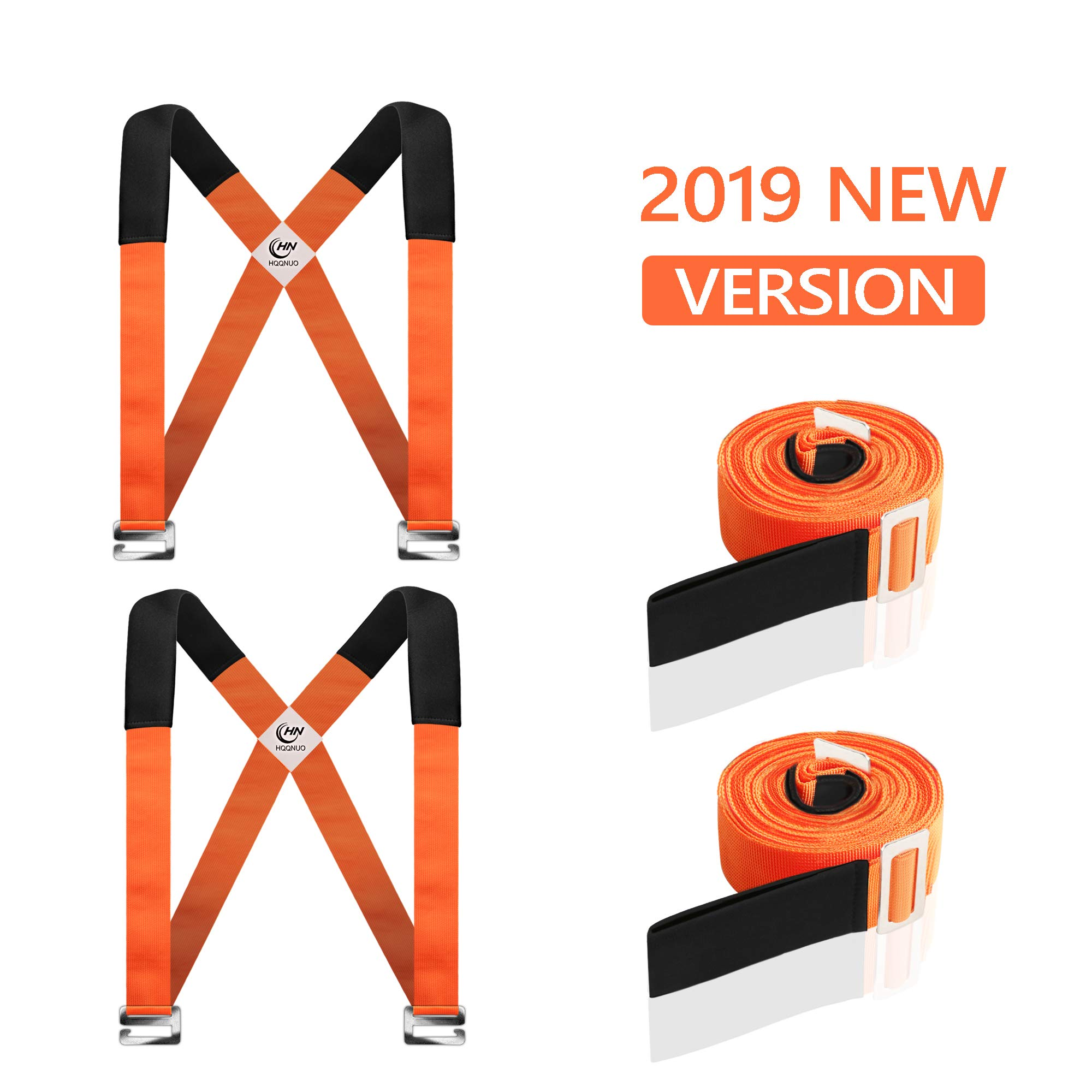 Moving Straps, 2-Person Lifting and Moving System - Easily Move, Lift, Carry Furniture, Appliances, Mattresses, Heavy Object Without Back Pain. Great Tool for Moving Supplies by HQQNUO