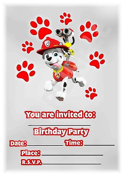Invitaciones de fiesta de cumpleaños de la Patrulla Canina ...