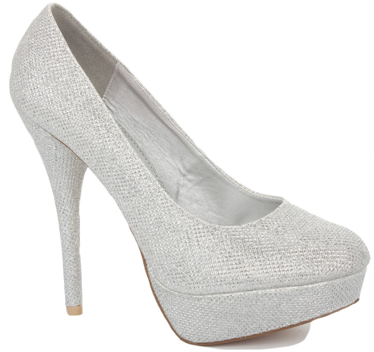 NEW WOMENS LADIES PLATFORM PARTY PROM WEDDING BRIDAL WORK HIGH HEELS  STILETTO COURT SHOES PUMPS SIZE 3-8: Amazon.co.uk: Shoes & Bags