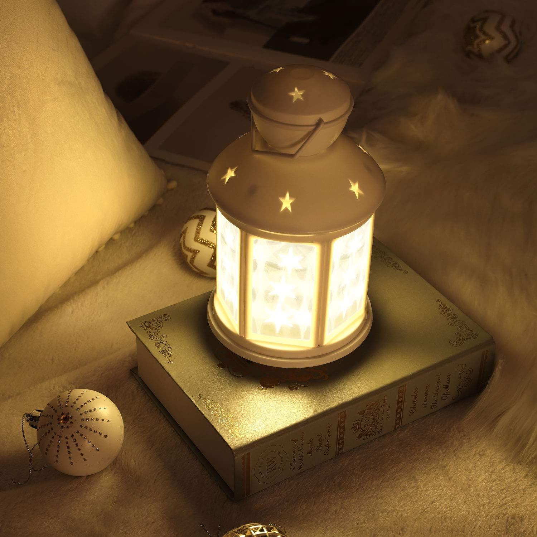 LED /Éclairage Nocturne /à/Piles D/écorations de vacances interne et externe d/écor pour la Cour Salon Chambre d/'enfants Maison foyer Lewondr Lampes Temp/êtes Lanterne /Électrique Blan Lumi/ère Chaude