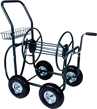 Industrial Heavy Duty Hose Reel Cart Water Pipe Carrie w// 4 Wheel Outdoor Garden