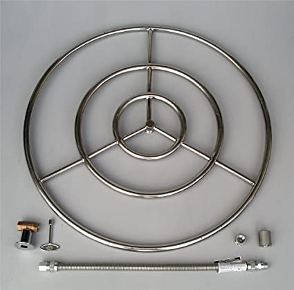 Amazon.com: Fire Pit Ring, High Capacity Triple Ring, 30
