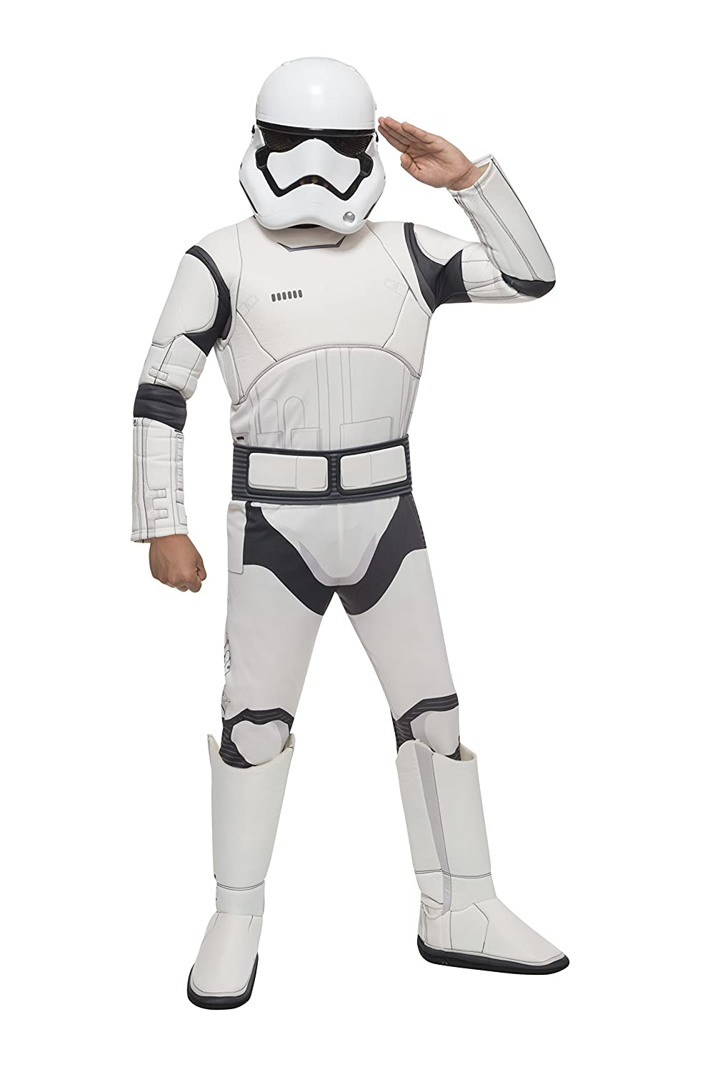 Amazon.com Star Wars VII The Force Awakens Deluxe Childu0027s Stormtrooper Costume and Mask Large Toys u0026 Games  sc 1 st  Amazon.com : stormtrooper costume kids  - Germanpascual.Com