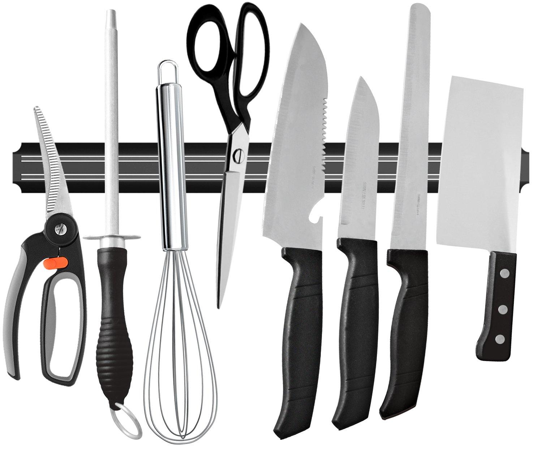 Ouddy 22 Inch Magnetic Knife Holder, Magnetic Knife Strip Bar Rack, Multipurpose Kitchen Knife Magnet for Home Tool Organization by Ouddy