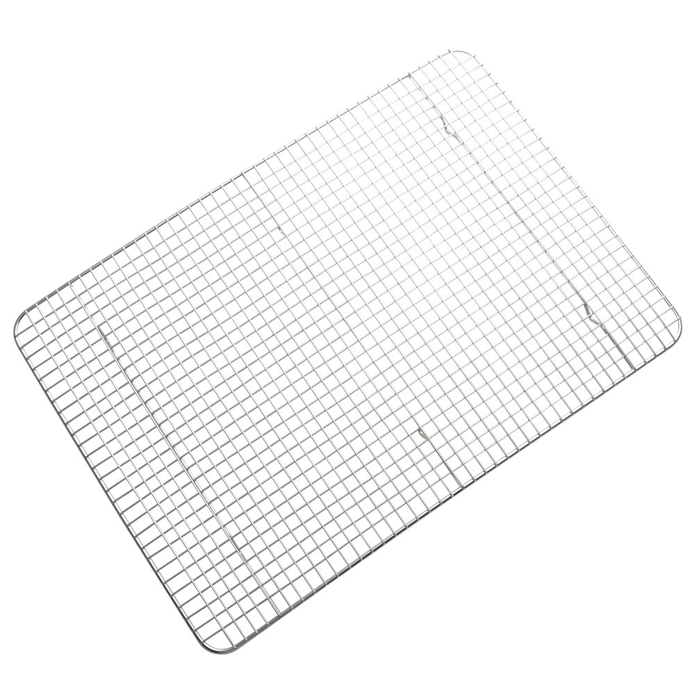 Stainless Steel Wire Cooling Rack, Cookie Cooling Rack, Baking Rack, Grid Design, Size 11.73'' x 16.85'' Dishwasher Safe Wire Rack. Fits Half Sheet Cookie Pan Oven Safe Rack