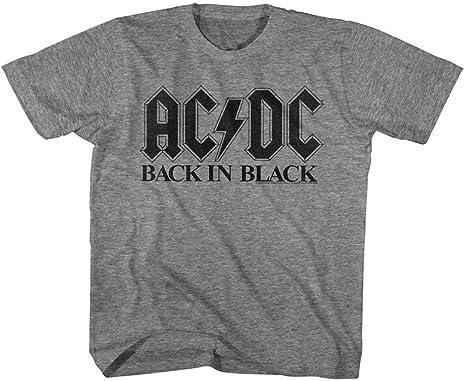 ee0a68fc9ff91 AC DC Unisex-Child Bib in Black T-Shirt  Amazon.co.uk  Clothing