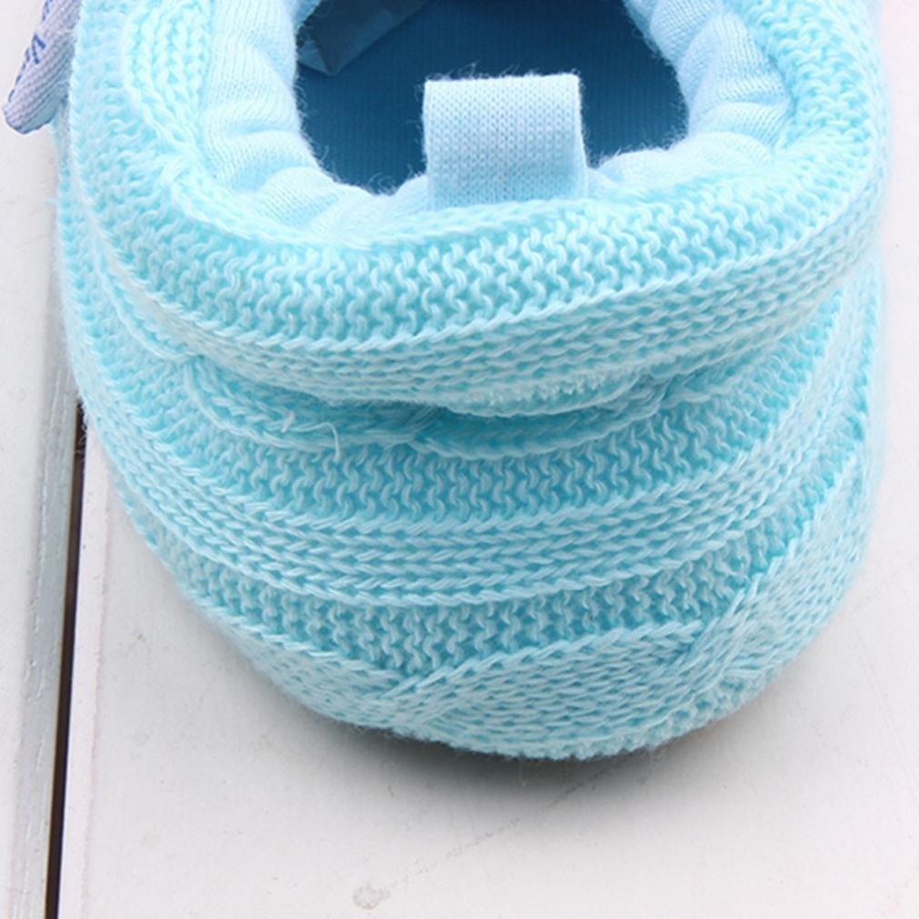 GQMART Fashion Baby Shoes Newborn Knit Soft Sole Sneaker
