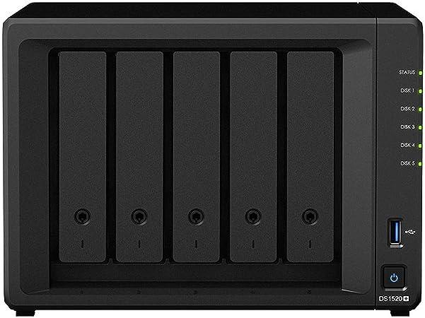 Synology Diskstation DS1520+ - Caja NAS de Escritorio de 5 bahías: Amazon.es: Informática