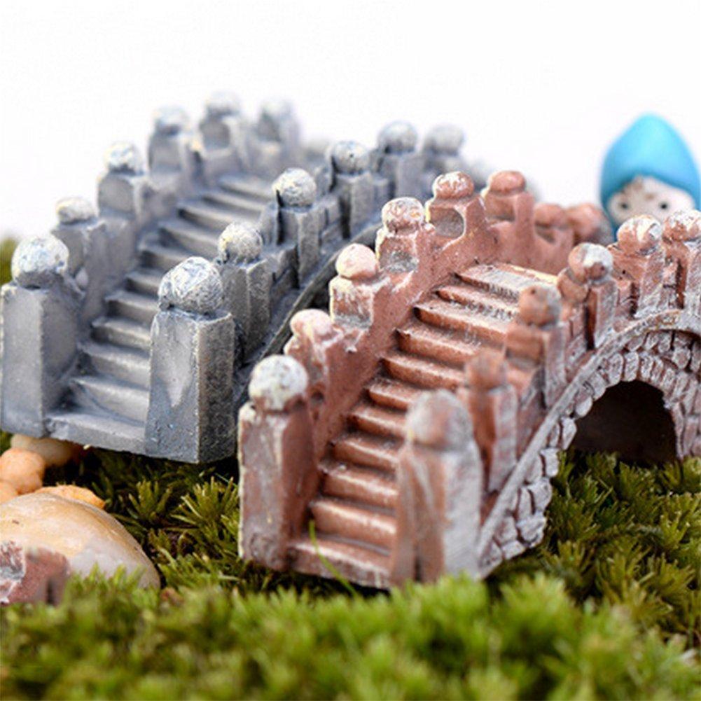 Toruiwa 2/x Miniatura Giardino bambola ponte artificiale in resina per giardino FEERIQUE paesaggio