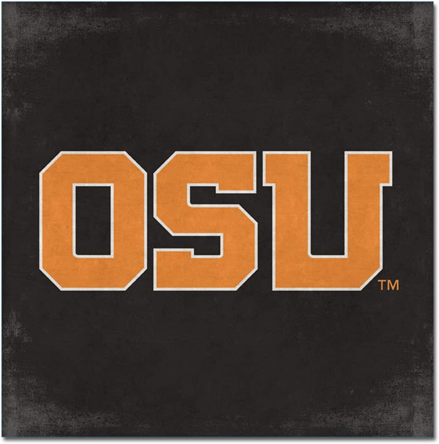 One Size Custom NCAA Legacy Oregon State Beavers Mini Canvas Art 9x9